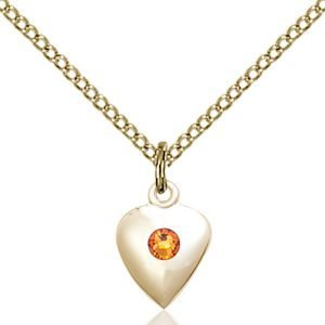 Heart Pendant - November Birthstone - Gold Filled #88791
