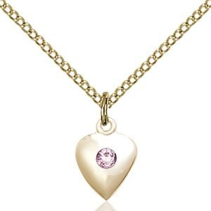 Heart Pendant - June Birthstone - Gold Filled #88797