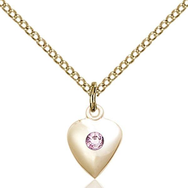 Heart Pendant - June Birthstone - Gold Filled #88797
