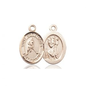 14kt Gold St. Christopher/Ice Hockey Medal