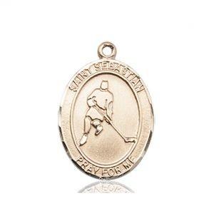 14kt Gold St. Sebastian/Ice Hockey Medal