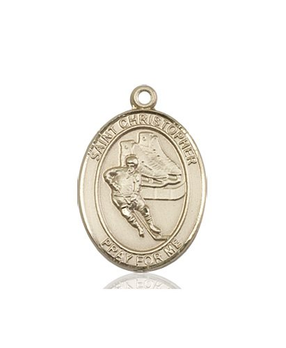 Christopher//Volleyball Medal 14kt Gold St