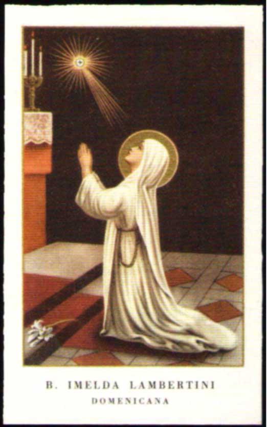 Holy Card of Blessed Imelda Lambertini