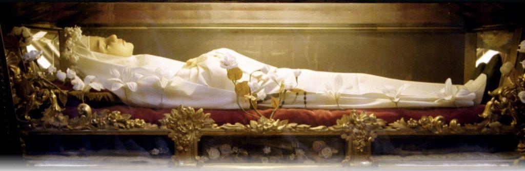 wax sculpture of St Imelda