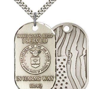 Sterling Silver Air Force Iraq Pendant