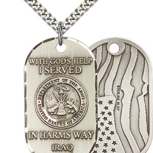 Sterling Silver Army Iraq Pendant