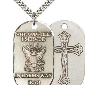Sterling Silver Iraq - Navy Pendant