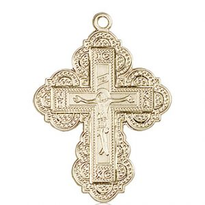 14kt Gold Irene Cross Medal #86991