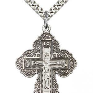 Sterling Silver Irene Cross Necklace #86992
