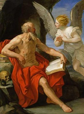 St Jerome with the angel