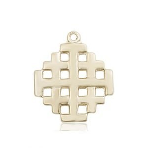 14kt Gold Jerusalem Cross Medal #87603