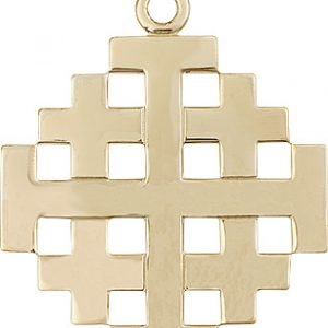 14kt Gold Jerusalem Cross Medal #87702