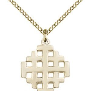 Gold Filled Jerusalem Cross Necklace #87601