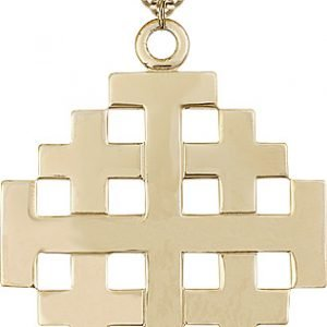 Gold Filled Jerusalem Cross Necklace #87700