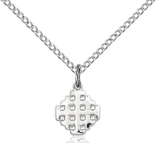 Sterling Silver Jerusalem Cross Necklace #87584