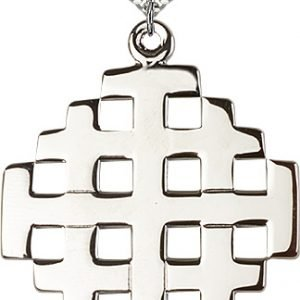 Sterling Silver Jerusalem Cross Necklace #87703