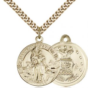 14kt Gold Filled St. Joan of Arc Pendant