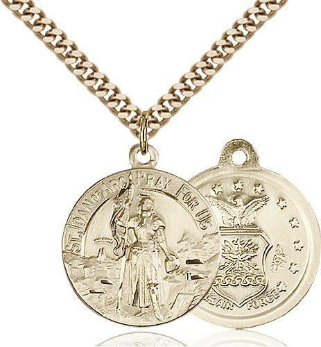 14kt Gold Filled St. Joan of Arc Pendant