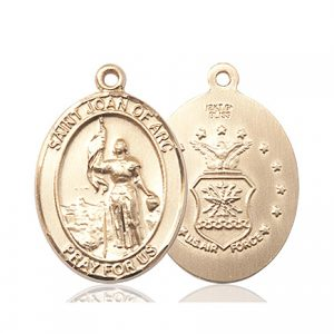 14kt Gold St. Joan Of Arc - Air Force Medal