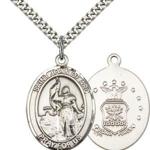 Sterling Silver St. Joan of Arc - Air Force Pendan