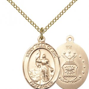 14kt Gold Filled St. Joan Of Arc  - Coast Guard Pendant
