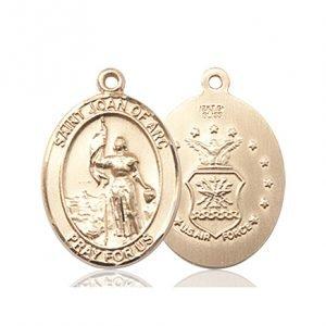 14kt Gold St. Joan Of Arc  - Coast Guard Medal