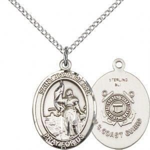 Sterling Silver St. Joan of Arc  - Coast Guard Penda