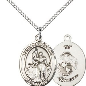 Sterling Silver St. Joan Of Arc - Marines Pendant