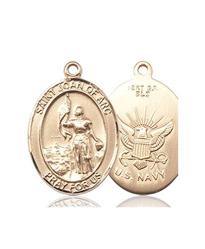 14kt Gold St. Joan Of Arc - Navy Medal