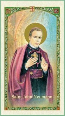 St. John Neumann Holy Card