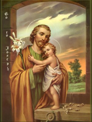 Image showing Joseph with the infant Jesus