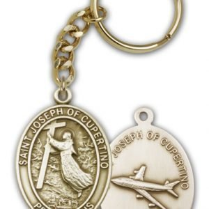 Antique Gold St Joseph of Cupertino Keychain