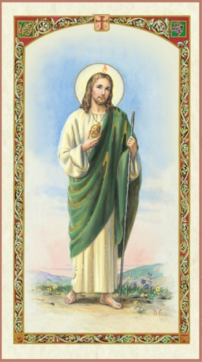 St Jude Holy Card