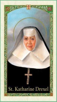 St Katherine Drexel Holy Card