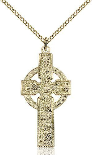 Gold Filled Kilklispeen Cross Necklace #86921