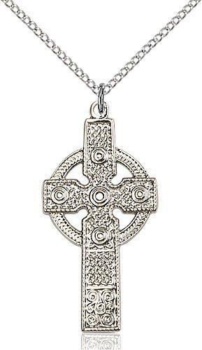 Sterling Silver Kilklispeen Cross Necklace #86924