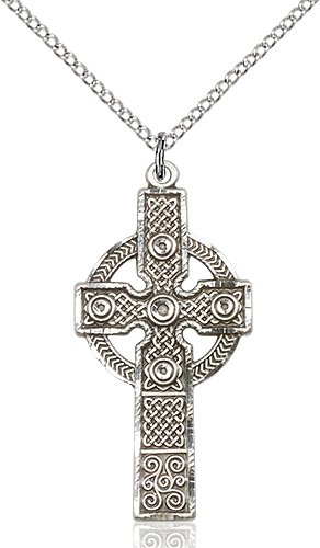 Sterling Silver Kilklispeen Cross Necklace #86940