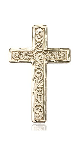 14kt Gold Knurled Cross Medal #87786