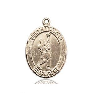 14kt Gold St. Sebastian/Lacrosse Medal