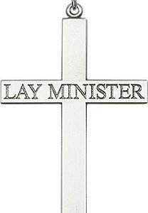 Sterling Silver Lay Minister Cross Necklace #87831