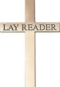 14kt Gold Lay Reader Cross Medal #87846