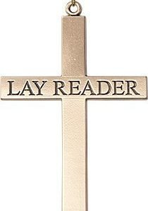 Gold Filled Lay Reader Cross Necklace #87844