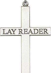 Sterling Silver Lay Reader Cross Necklace #87847