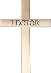 14kt Gold Lector Cross Medal #87838
