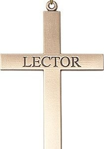 Gold Filled Lector Cross Necklace #87836