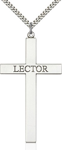 Sterling Silver Lector Cross Necklace #87839
