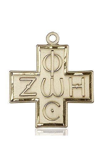 14kt Gold Light & Life Cross Medal #88101