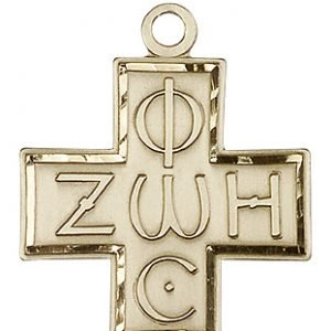 14kt Gold Light & Life Cross Medal #88105