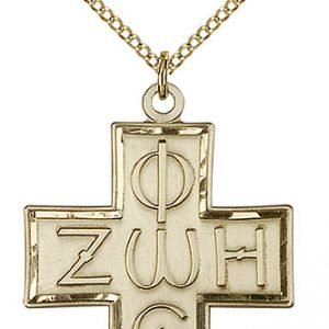 Gold Filled Light & Life Cross Necklace #88099