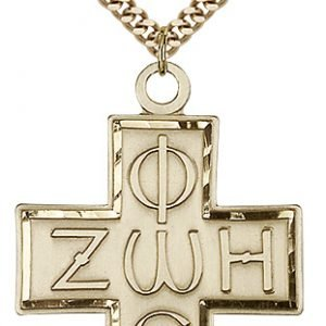 Gold Filled Light & Life Cross Necklace #88103